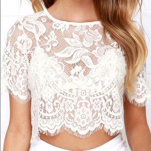 Lulu's lace crop top